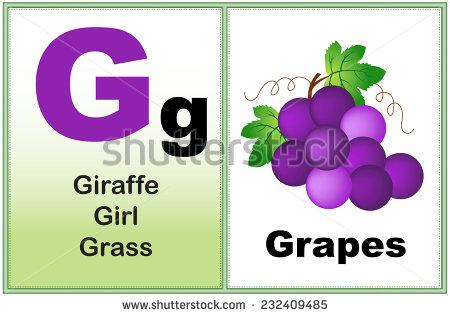 Alphabet Letter G Clipart Few Similar Stock Vector 232409485.