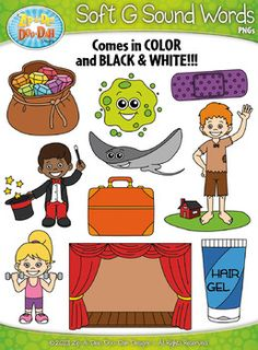 Hard C Sound Phonics Words Clipart Set Includes 20 Graphics!You.