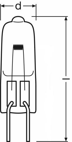 Special Bulb Osram 64611 HLX 50W 12V G6.35.