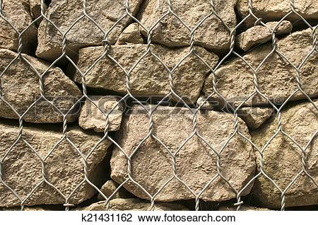 Stock Photo of Gabion baskets filled with stones k21431162.