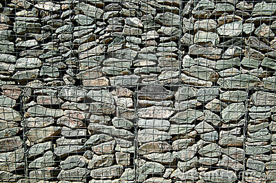 Stones Of A Gabion Wall Royalty Free Stock Photo.