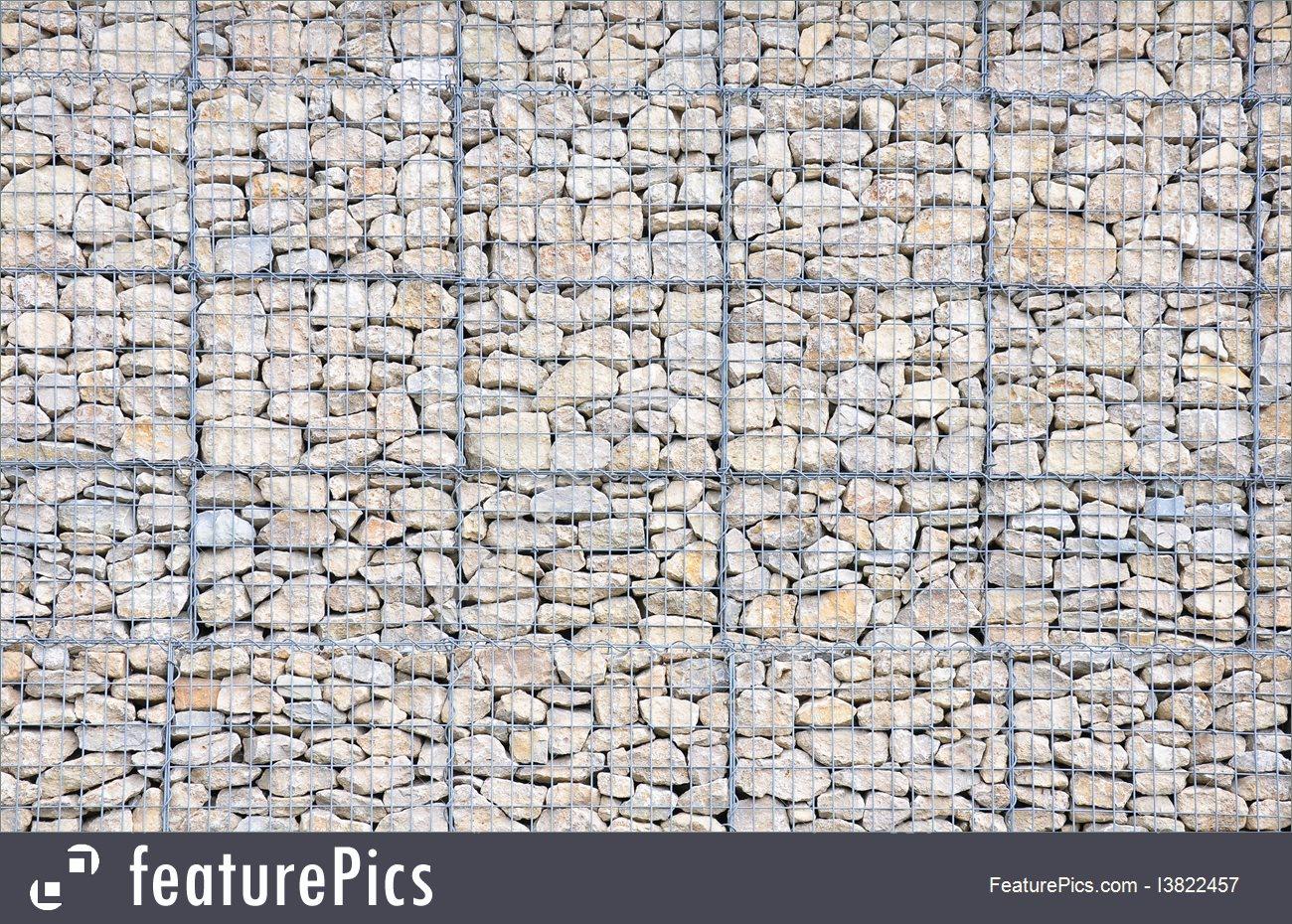 Gabions Stone Texture.