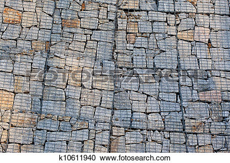 Stock Photography of Gabion wall k10611940.
