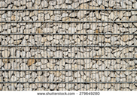 Gabion Stock Images, Royalty.