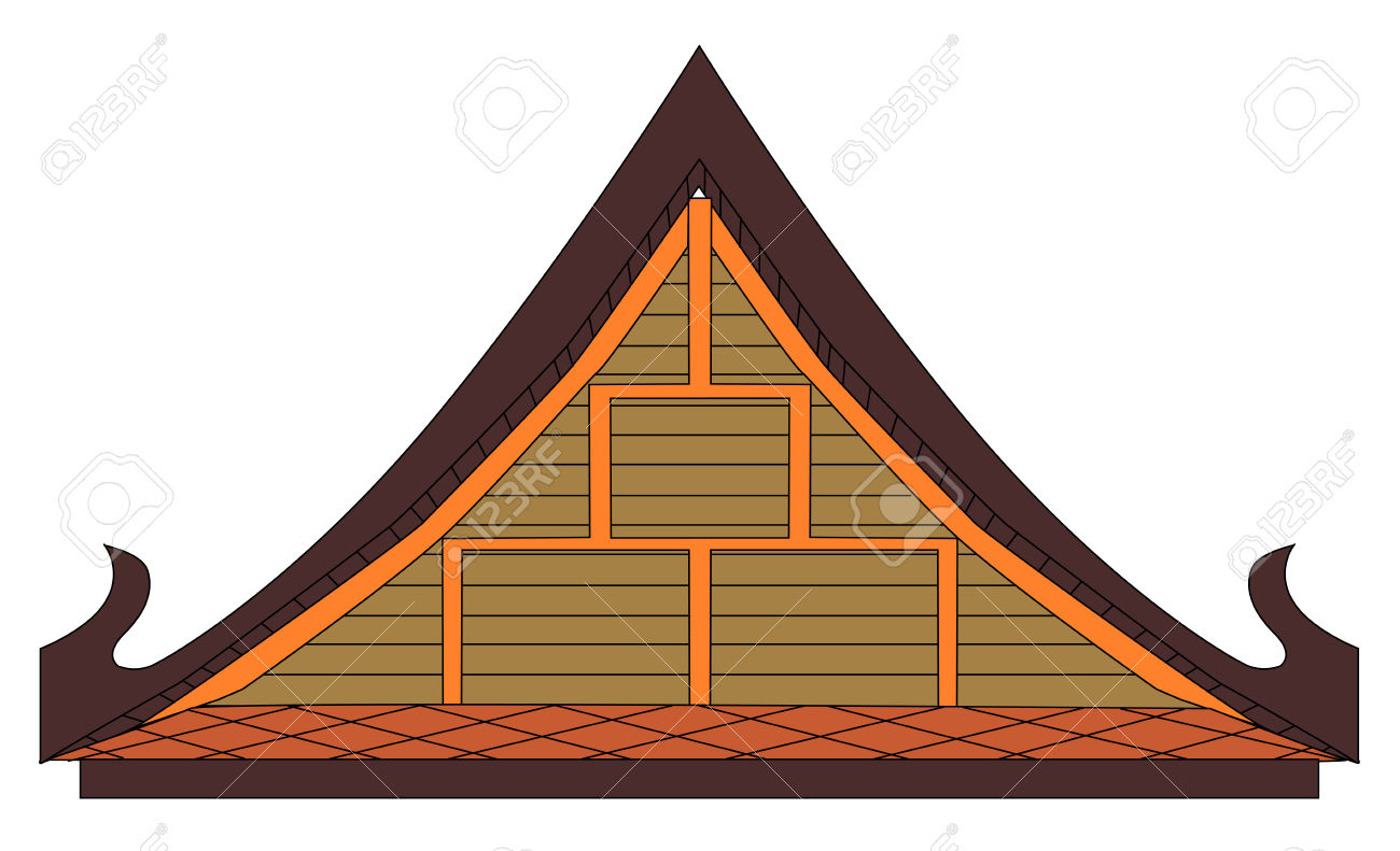 Thai House Gable Royalty Free Cliparts, Vectors, And Stock.
