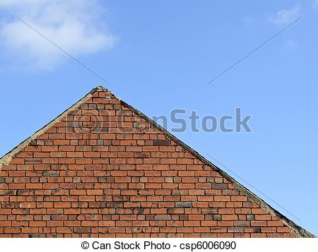 Stock Photography of gable end of a house.