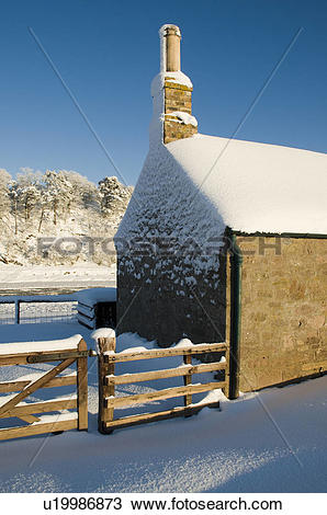 Stock Photo of Scotland, Scottish Borders, Ladykirk, The gable end.