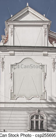 Stock Photo of Gable End in Riga, Latvia.