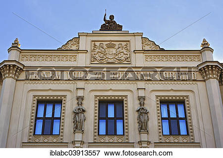 """Picture of """"Gable figure and coat of arms, Museum of Ethnology."""