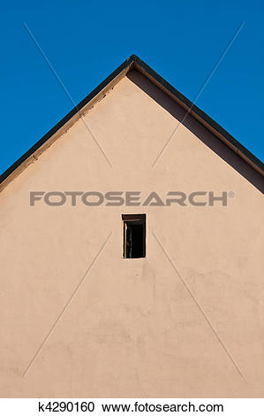 Stock Photography of Symmetric roof gable k4290160.