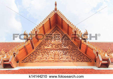 Stock Photography of Thai gable k14144210.