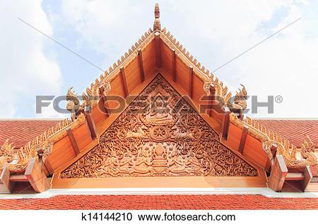 Stock Photography of Thai gable k14144210.