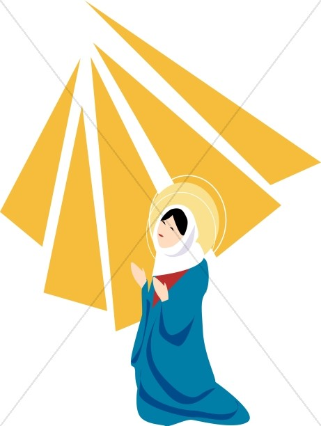 Mary and gabriel clipart.