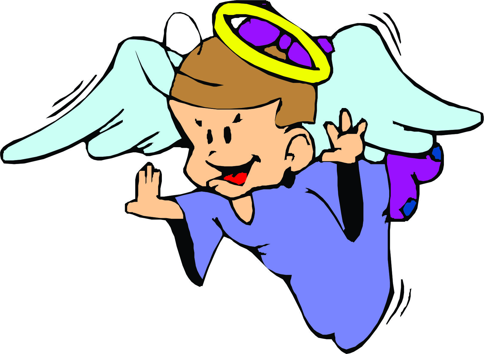 fun girl angel clipart #9