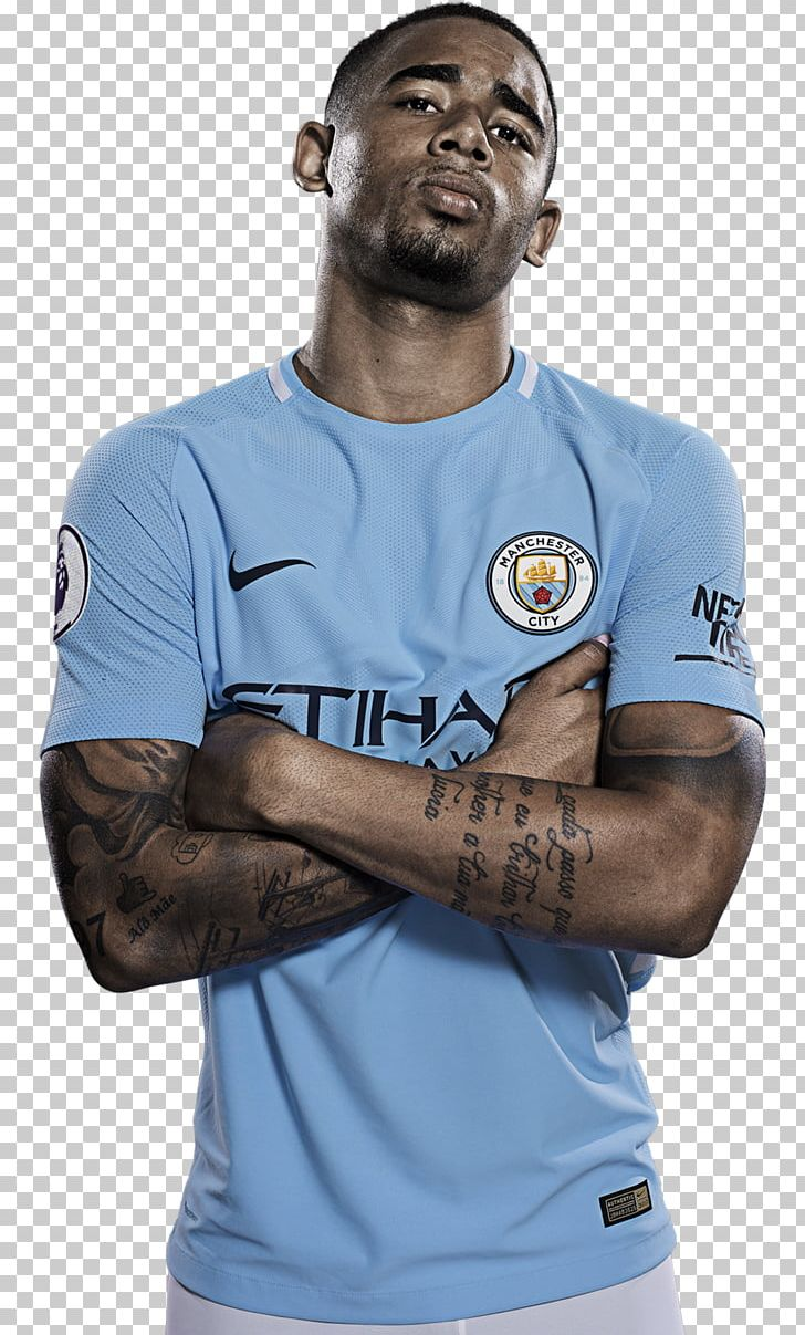 Gabriel Jesus Manchester City F.C. Rendering Jersey PNG, Clipart.