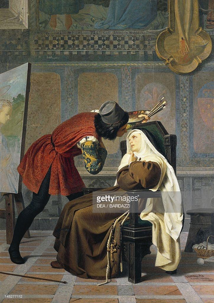 Filippo Lippi and the nun Lucrezia Buti, 1860, by Gabriele.