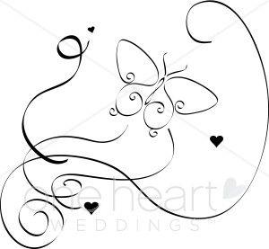 Elegant Butterfly Clipart.