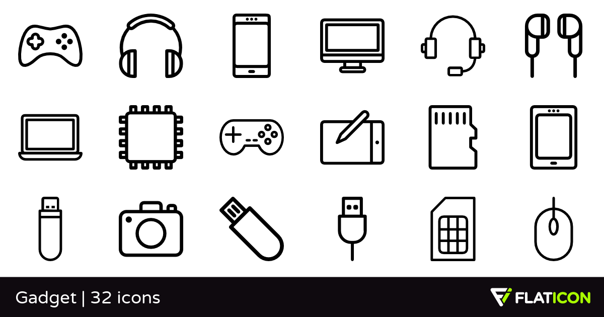 Gadget 32 free icons (SVG, EPS, PSD, PNG files).