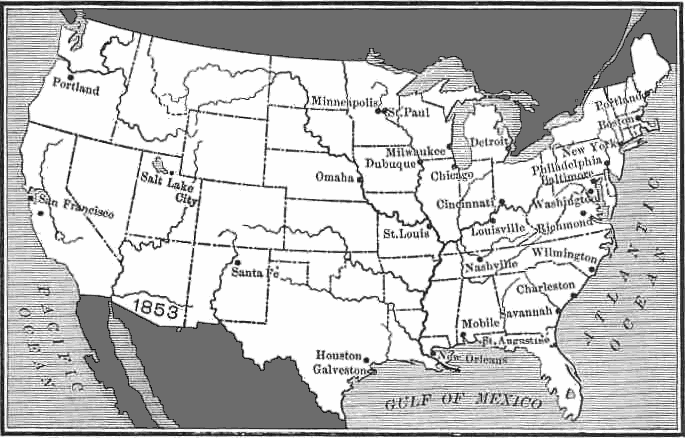 United States After Gadsden Purchase Clip Art Download.