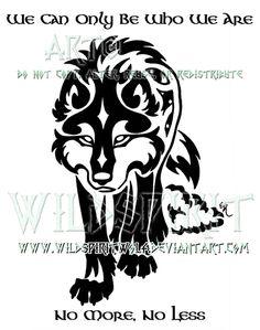 celtic wolf tattoo by matilda101.