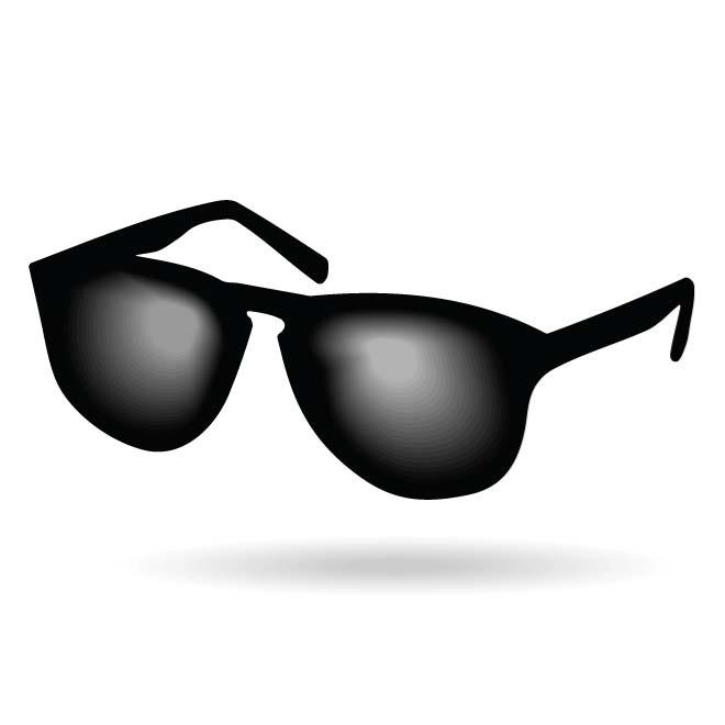 BLACK SUNGLASSES.
