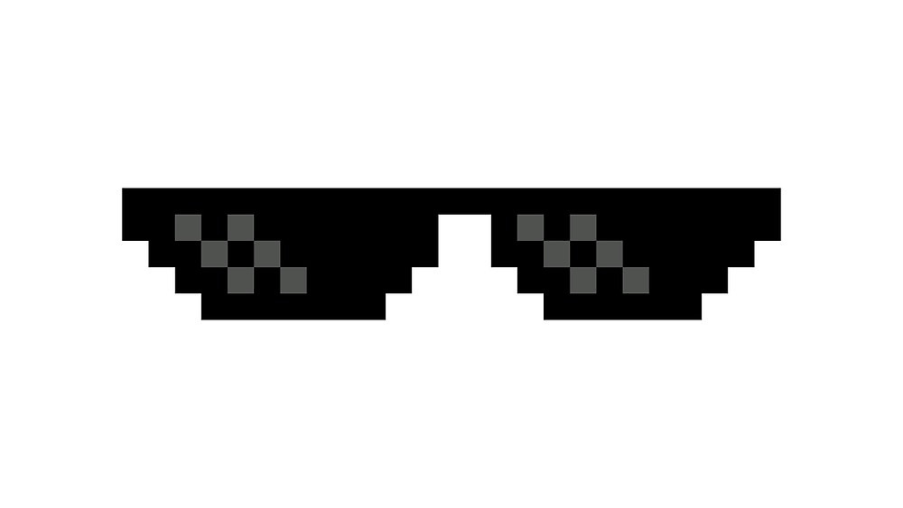 Deal With It Glasses Clipart.