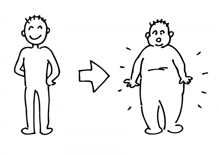Weight gain clipart.