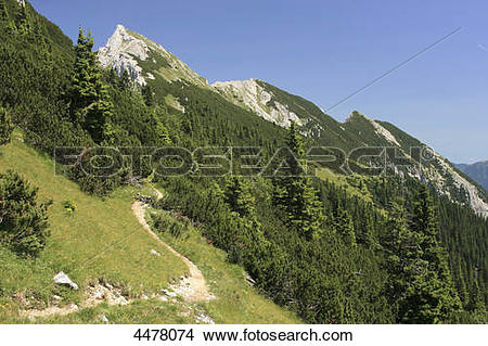 Stock Photo of Grosse Schlicke, Tannheim Alps, Tyrol, Austria.