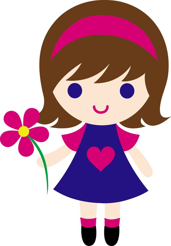 Show and tell girl clipart.