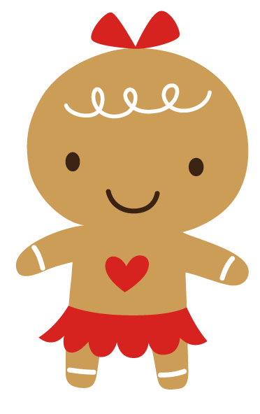 Cute Girl Gingerbread Clipart Gingerbread Gal Orange #Gq4sdP.