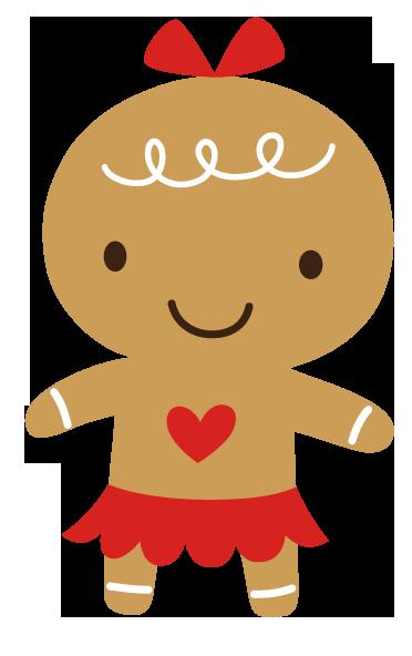 Cute Girl Gingerbread Clipart Gingerbread Gal Orange #Gq4sdP.