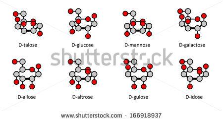 2D Chemical structures, conjunto de molekuul_be na Shutterstock.