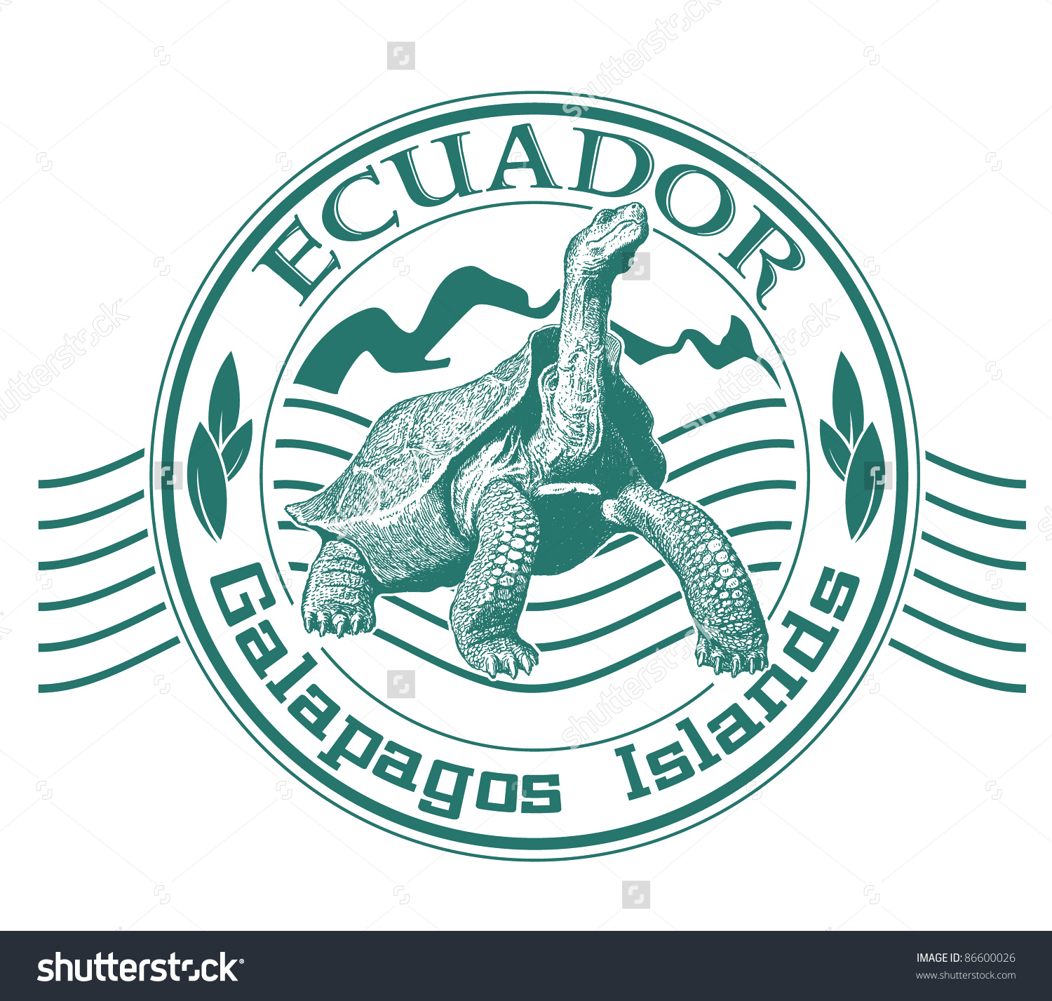 Galapagos Islands Stamp Stock Vector 86600026.