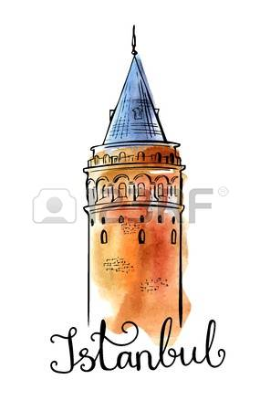 183 Galata Tower Stock Illustrations, Cliparts And Royalty Free.