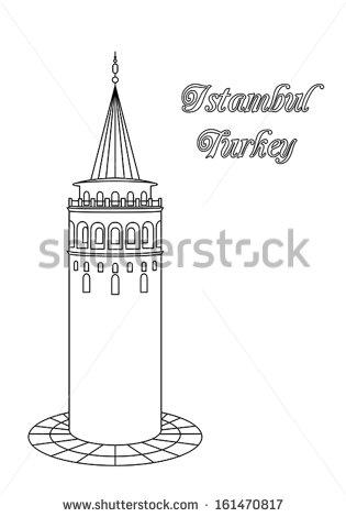 Galata Tower Stock Vectors, Images & Vector Art.
