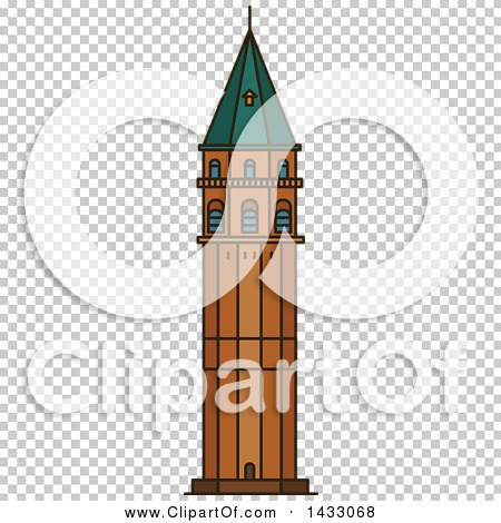Clipart of a Line Drawing Styled Turkey Landmark, Galata Tower.