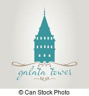 Istanbul galata kulesi Clip Art Vector and Illustration. 6.