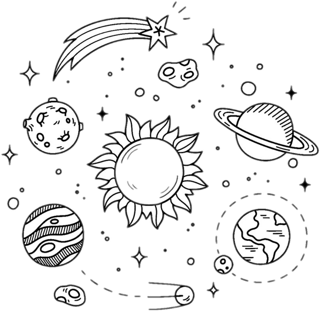 Galaxy Clipart Black And White.