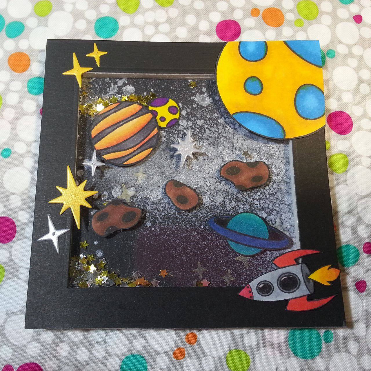 Out oF This World space stamp set. Customize your own galaxy with.