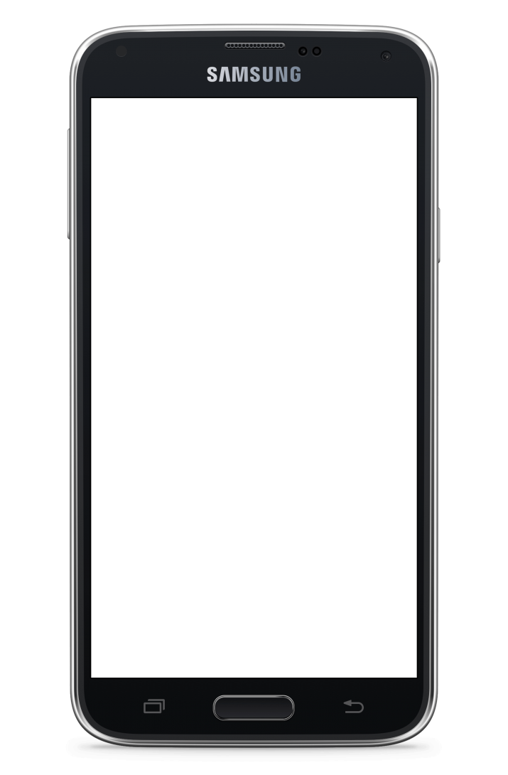Samsung Galaxy S5 transparent background.
