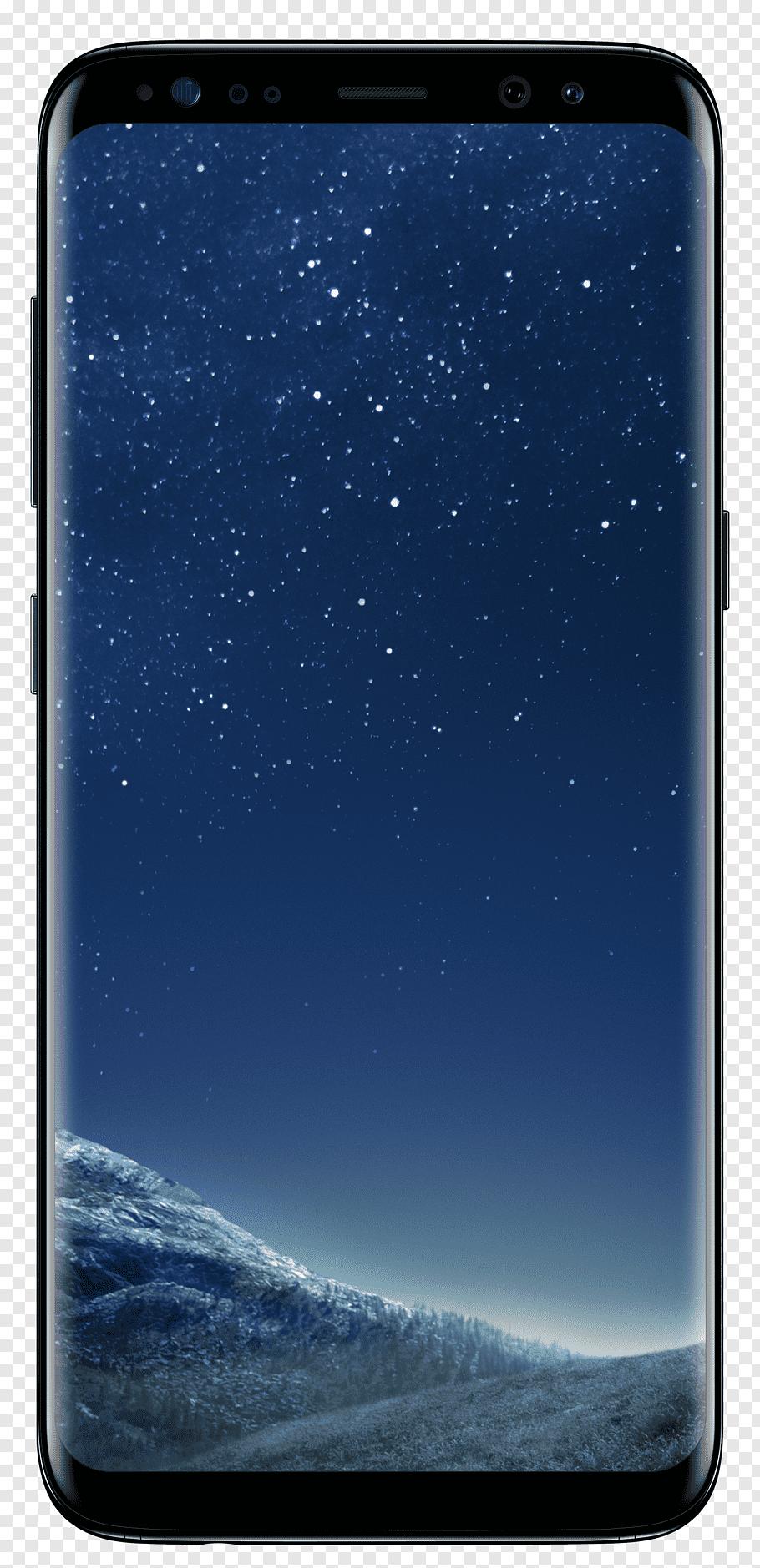 Midnight black Samsung Galaxy S8, Samsung Galaxy S Plus.