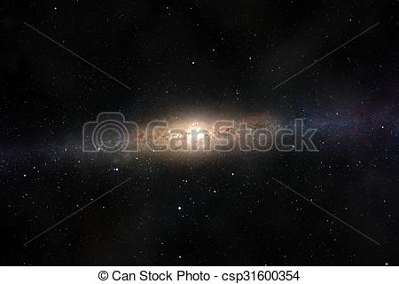 Stock Images of Spectacular view of a glowing galaxy, consisting.