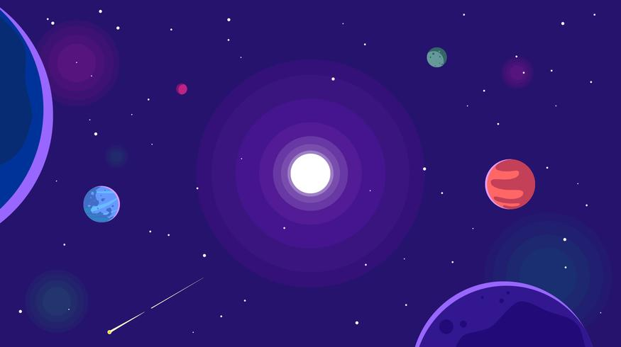 Ultra Violet Galactic Background Free Vector.