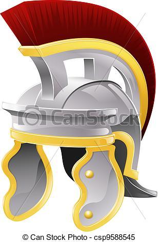 Clipart Vector of Roman helmet.