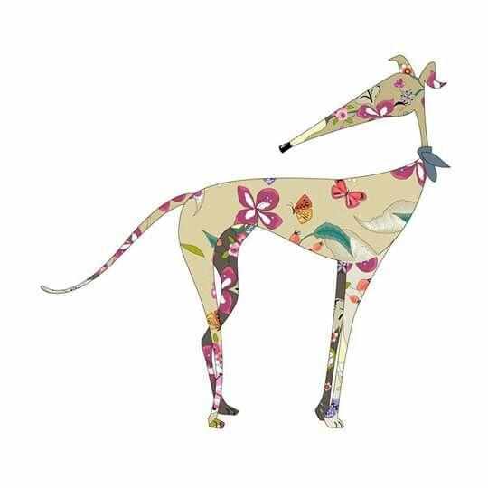 Greyhound/Galgo digital drawing I found on FB.