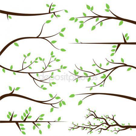 Faça o download de bibliotecas de vetores Galho de árvore na.
