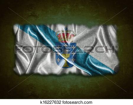 Galician flag clipart.
