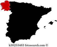 Map galicia Clip Art and Illustration. 77 map galicia clipart.