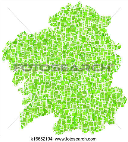 Clipart of Isolated map of Galicia k16652194.
