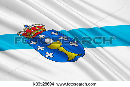 Drawings of Flag of Galicia, Spain k33528694.